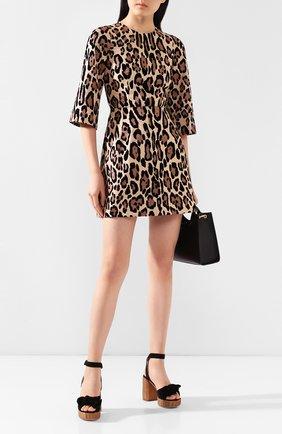 Женское мини-платье DOLCE & GABBANA леопардового цвета, арт. F6J1CT/HHMXM | Фото 2