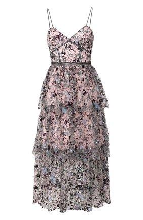Женское платье SELF-PORTRAIT разноцветного цвета, арт. SS20-119S | Фото 1