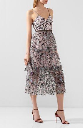 Женское платье SELF-PORTRAIT разноцветного цвета, арт. SS20-119S | Фото 2