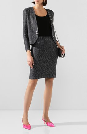 Женская юбка ST. JOHN серого цвета, арт. K72Z021 | Фото 2