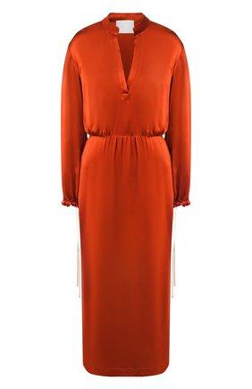 Женское платье из вискозы TWINS FLORENCE оранжевого цвета, арт. TWFPE20ABI0002B | Фото 1