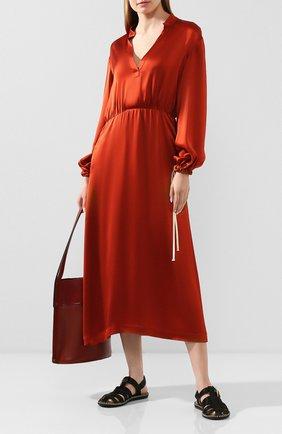 Женское платье из вискозы TWINS FLORENCE оранжевого цвета, арт. TWFPE20ABI0002B | Фото 2