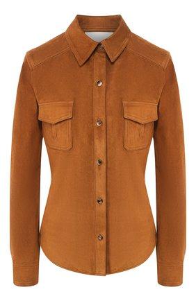 Женская замшевая рубашка TWINS FLORENCE коричневого цвета, арт. TWFPE20CAM0007 | Фото 1