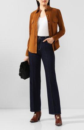 Женская замшевая рубашка TWINS FLORENCE коричневого цвета, арт. TWFPE20CAM0007 | Фото 2