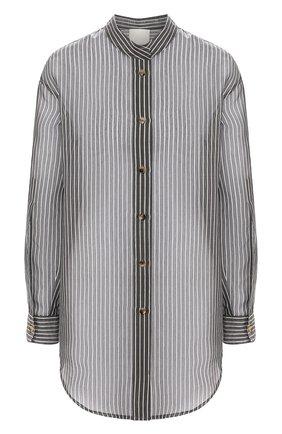 Женская рубашка из хлопка и шелка TWINS FLORENCE черно-белого цвета, арт. TWFPE20CAM0008 | Фото 1