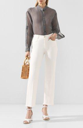 Женская рубашка из хлопка и шелка TWINS FLORENCE черно-белого цвета, арт. TWFPE20CAM0008 | Фото 2