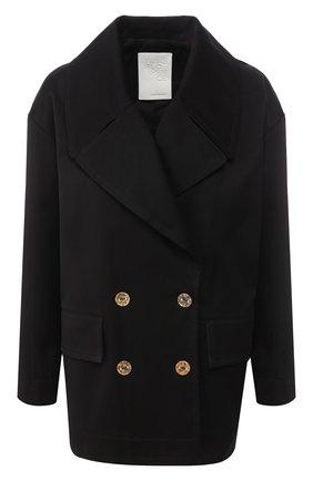 Женское хлопковая куртка  TWINS FLORENCE черного цвета, арт. TWFPE20GIU0004 | Фото 1