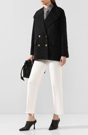 Женское хлопковая куртка  TWINS FLORENCE черного цвета, арт. TWFPE20GIU0004 | Фото 2