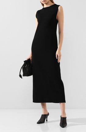 Женское хлопковое платье TWINS FLORENCE черного цвета, арт. TWFPE20MAG0005 | Фото 2