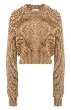 Женская хлопковый свитер TWINS FLORENCE бежевого цвета, арт. TWFPE20MAG0010 | Фото 1