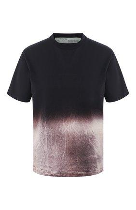 Женская хлопковая футболка OFF-WHITE черного цвета, арт. 0WAA049R20F291241010 | Фото 1