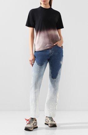Женская хлопковая футболка OFF-WHITE черного цвета, арт. 0WAA049R20F291241010 | Фото 2