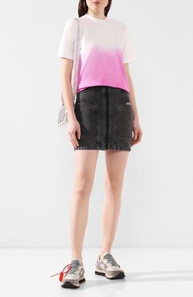 Женская джинсовая юбка OFF-WHITE темно-серого цвета, арт. 0WYF004R20E980687500   Фото 2
