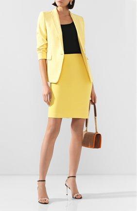 Женская юбка BOSS желтого цвета, арт. 50409644   Фото 2