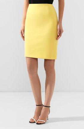 Женская юбка BOSS желтого цвета, арт. 50409644   Фото 3