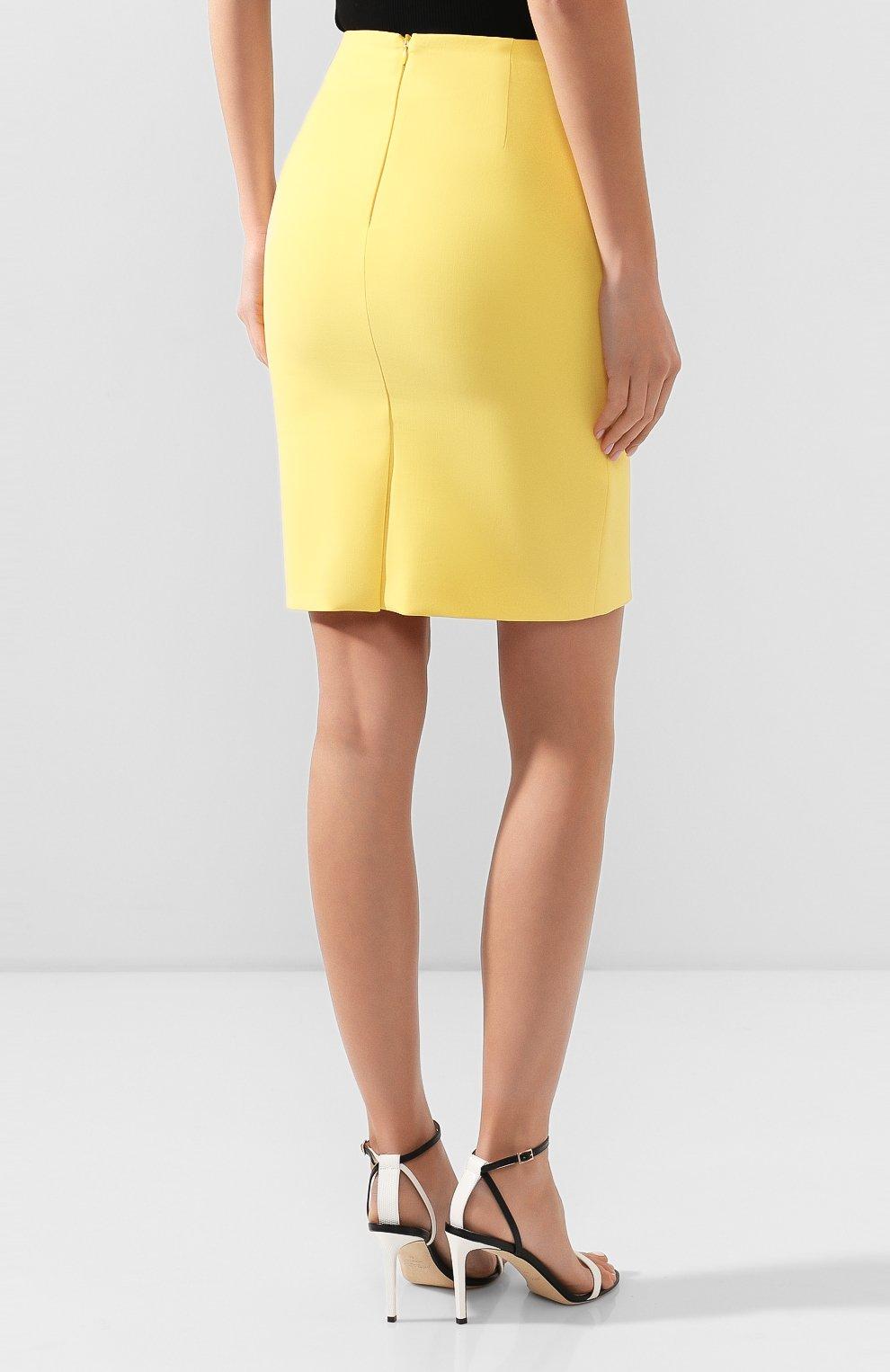 Женская юбка BOSS желтого цвета, арт. 50409644   Фото 4