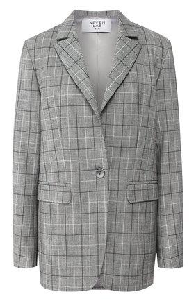 Женский жакет SEVEN LAB серого цвета, арт. J2 19-B2CR plaid grey | Фото 1