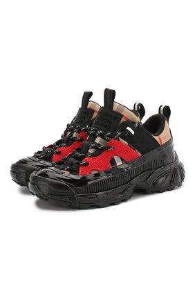 Детские кроссовки BURBERRY разноцветного цвета, арт. 8023379 | Фото 1