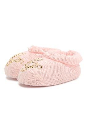 Детский комплект из пинеток и повязки LA PERLA розового цвета, арт. 48796 | Фото 2