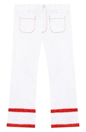 Детского хлопковые брюки STELLA JEAN KIDS белого цвета, арт. 20E/J/JF/PA03/1141/4A-6A   Фото 1