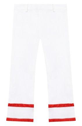 Детского хлопковые брюки STELLA JEAN KIDS белого цвета, арт. 20E/J/JF/PA03/1141/4A-6A   Фото 2