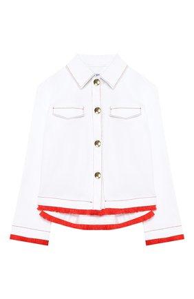 Детская джинсовая куртка STELLA JEAN KIDS белого цвета, арт. 20E/J/JF/CT03/1141/4A-6A | Фото 1