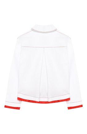 Детская джинсовая куртка STELLA JEAN KIDS белого цвета, арт. 20E/J/JF/CT03/1141/4A-6A | Фото 2