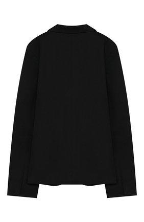 Детский хлопковый жакет UNLABEL черного цвета, арт. IVY-2/56-IN06/8A-10A | Фото 2