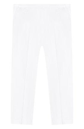 Детского хлопковые брюки IL GUFO белого цвета, арт. P20PR004C6002/10A-12A | Фото 2