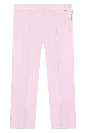 Детского хлопковые брюки IL GUFO розового цвета, арт. P20PR004C6002/10A-12A | Фото 1