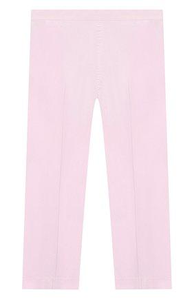 Детского хлопковые брюки IL GUFO розового цвета, арт. P20PR004C6002/10A-12A | Фото 2