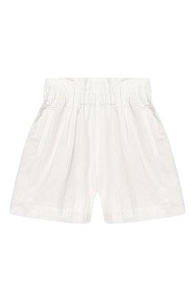Детские хлопковые шорты BRUNELLO CUCINELLI белого цвета, арт. B0F48P011C | Фото 1