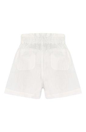 Детские хлопковые шорты BRUNELLO CUCINELLI белого цвета, арт. B0F48P011C | Фото 2