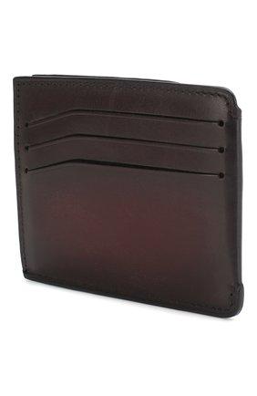 Мужской кожаный футляр для кредитных карт BERLUTI бордового цвета, арт. N197188 | Фото 2