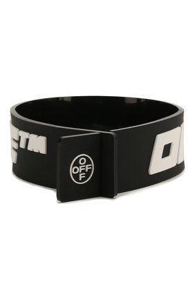 Мужской браслет OFF-WHITE черного цвета, арт. 0M0A015S208510411001 | Фото 2