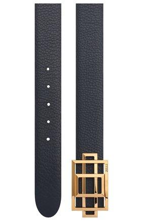Мужской кожаный ремень ZILLI темно-синего цвета, арт. MJL-CLAQD-01805/0218 | Фото 2