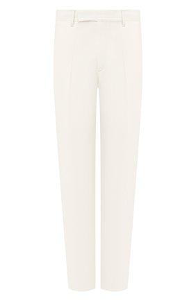 Мужской шерстяные брюки TRIPLE RRR белого цвета, арт. SS20 P014 3014 | Фото 1