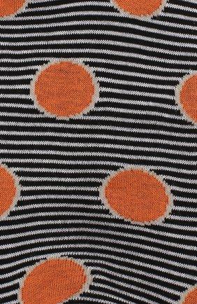 Мужские хлопковые носки COLLIROSSI черного цвета, арт. UFI4050-21/1 | Фото 2