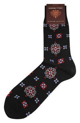 Мужские хлопковые носки COLLIROSSI темно-синего цвета, арт. UFI4050-20/1 | Фото 1