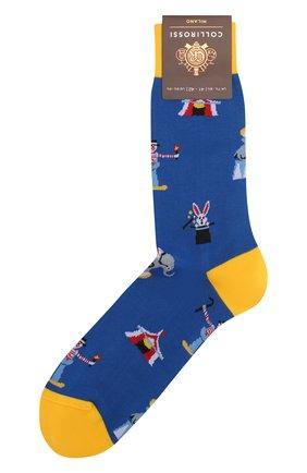 Мужские хлопковые носки COLLIROSSI синего цвета, арт. UFI4050-19/1 | Фото 1