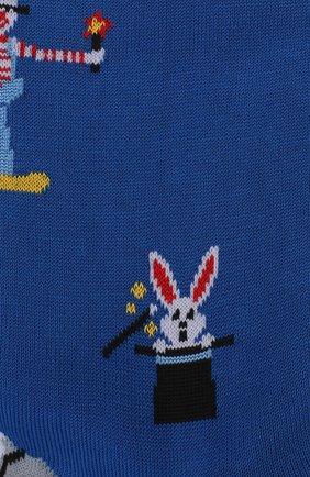 Мужские хлопковые носки COLLIROSSI синего цвета, арт. UFI4050-19/1 | Фото 2