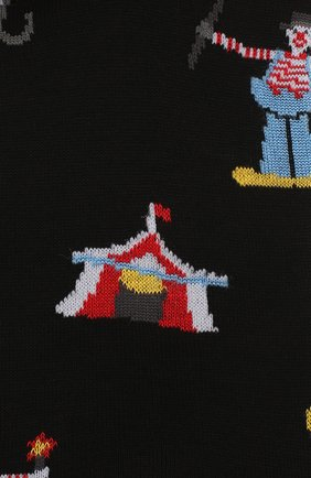 Мужские хлопковые носки COLLIROSSI черного цвета, арт. UFI4050-19/1 | Фото 2
