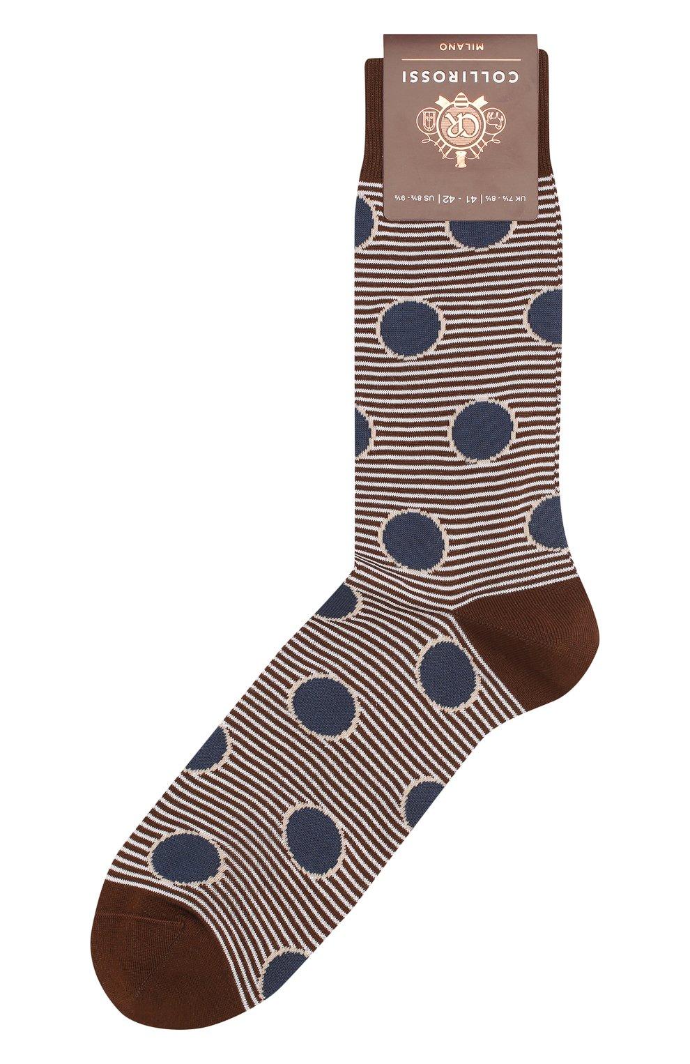 Мужские хлопковые носки COLLIROSSI коричневого цвета, арт. UFI4050-21/1 | Фото 1