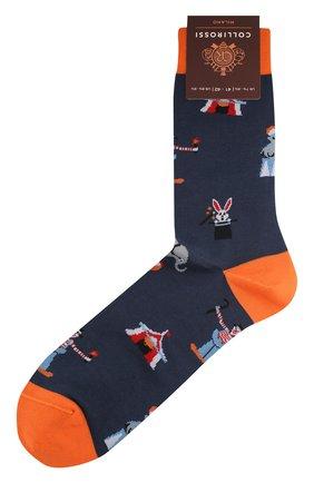 Мужские хлопковые носки COLLIROSSI темно-синего цвета, арт. UFI4050-19/1 | Фото 1