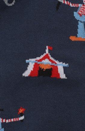 Мужские хлопковые носки COLLIROSSI темно-синего цвета, арт. UFI4050-19/1 | Фото 2