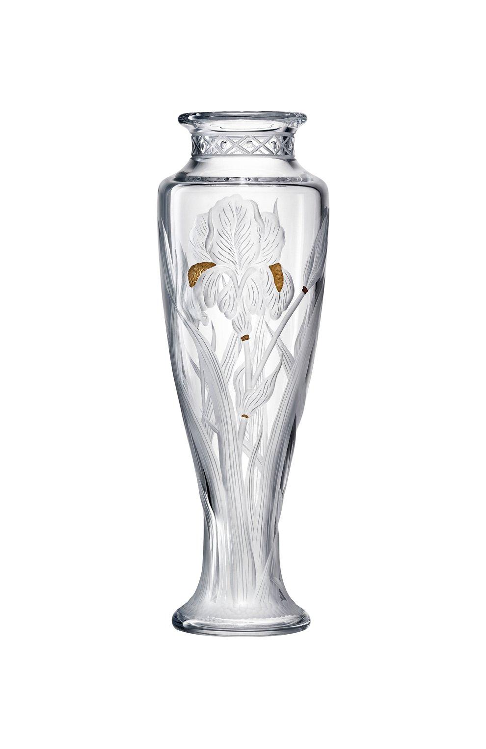 Мужского ваза haute couture ирис BACCARAT прозрачного цвета, арт. 2 812 370 | Фото 1