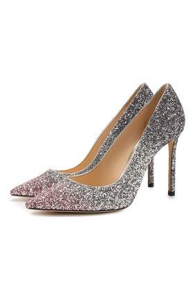 Женская туфли romy 100 JIMMY CHOO светло-розового цвета, арт. R0MY 100/VNB | Фото 1