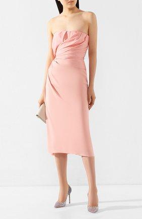 Женская туфли romy 100 JIMMY CHOO светло-розового цвета, арт. R0MY 100/VNB | Фото 2