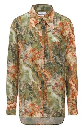 Женская шелковая рубашка DEVEAUX зеленого цвета, арт. W201-301-BC2 | Фото 1