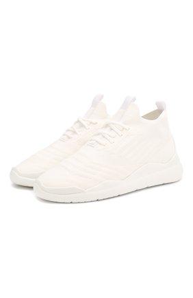Женские текстильные кроссовки PRADA белого цвета, арт. 3E6442-3KFP-F0009-10 | Фото 1
